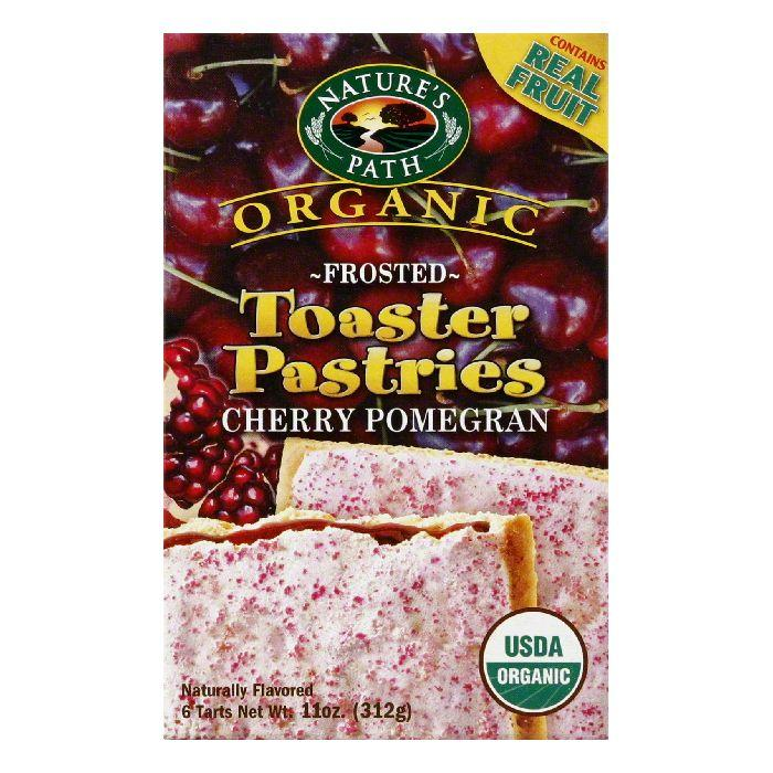 Nature's Path Frosted Cherry Pomegran Toaster Pastries, 11 OZ (Pack of 12)