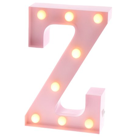 Barnyard Designs Metal Marquee Letter Z Light Up Wall Initial Nursery Letter, Home and Event Decoration 9
