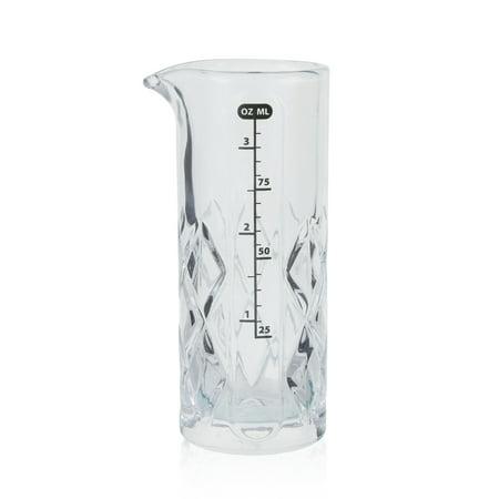 Glass Measuring Jigger with Diamond Weave - (Sterling Jigger)