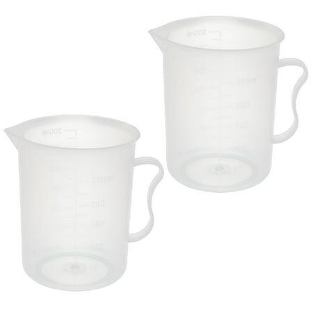 2 Pcs Kitchen Lab 300mL Plastic Measuring Cup Jug Pour Spout Container ()