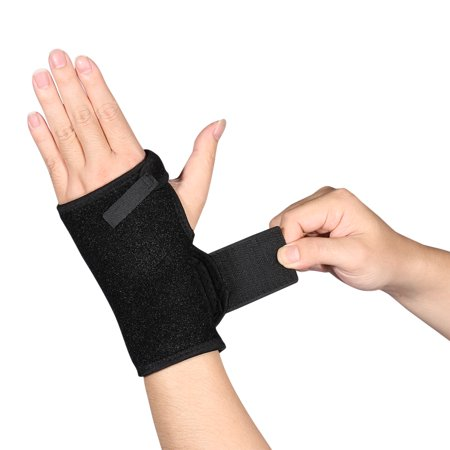 - Universal Wrist Brace One Size Breathable Adjustable Support for Relief Carpal Tunnel Tendonitis Wrist Pain Sports Injuries Left Hand