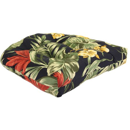 Jordan Manufacturing Fl Outdoor Patio Tufted Wicker Seat Cushion