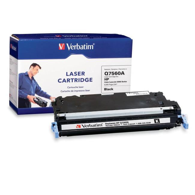 Verbatim HP Q7560A Black Remanufactured Laser Toner Cartr...