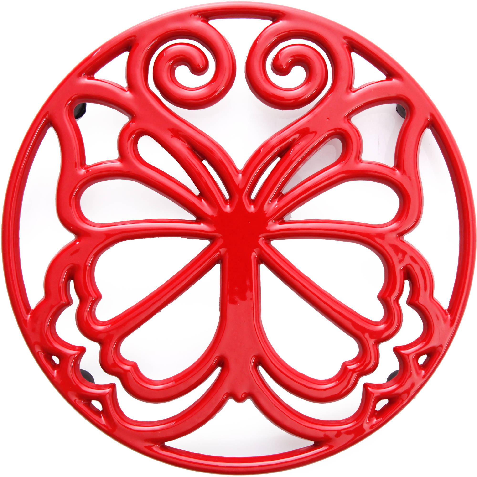 The Pioneer Woman Timeless Beauty 8  Cast Iron Trivet, Red
