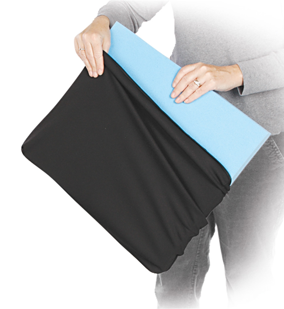 AliMed Black Knit Replacement Cushion Cover, 18x18x3 Inch