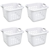 Sterilite 1.5 Bushel Ultra Square Laundry Basket White Case of 4