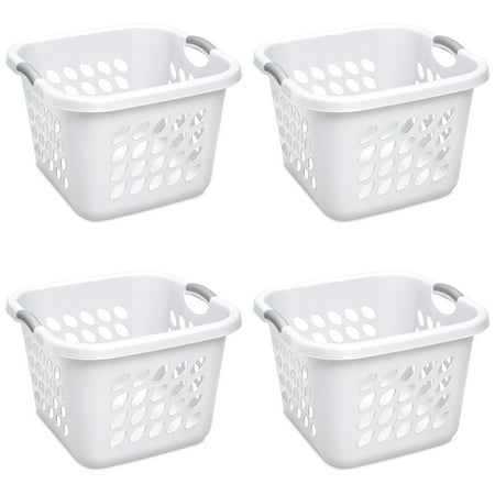 Sterilite, 1.5 Bushel/53 L Ultra™ Square Laundry Basket, White, Case of 4 ()
