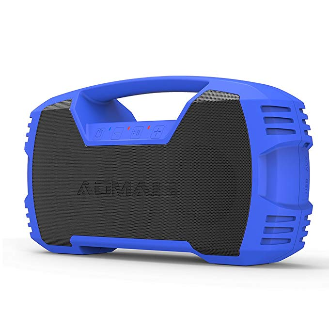 AOMAIS GO Bluetooth Speakers,Waterproof Portable Indoor/Outdoor 30W Wireless Stereo Pairing Booming Bass Speaker,30-Hour Playtime with 8800mAh Power Bank,Durable for Pool Party,Beach,Camping(Blue)
