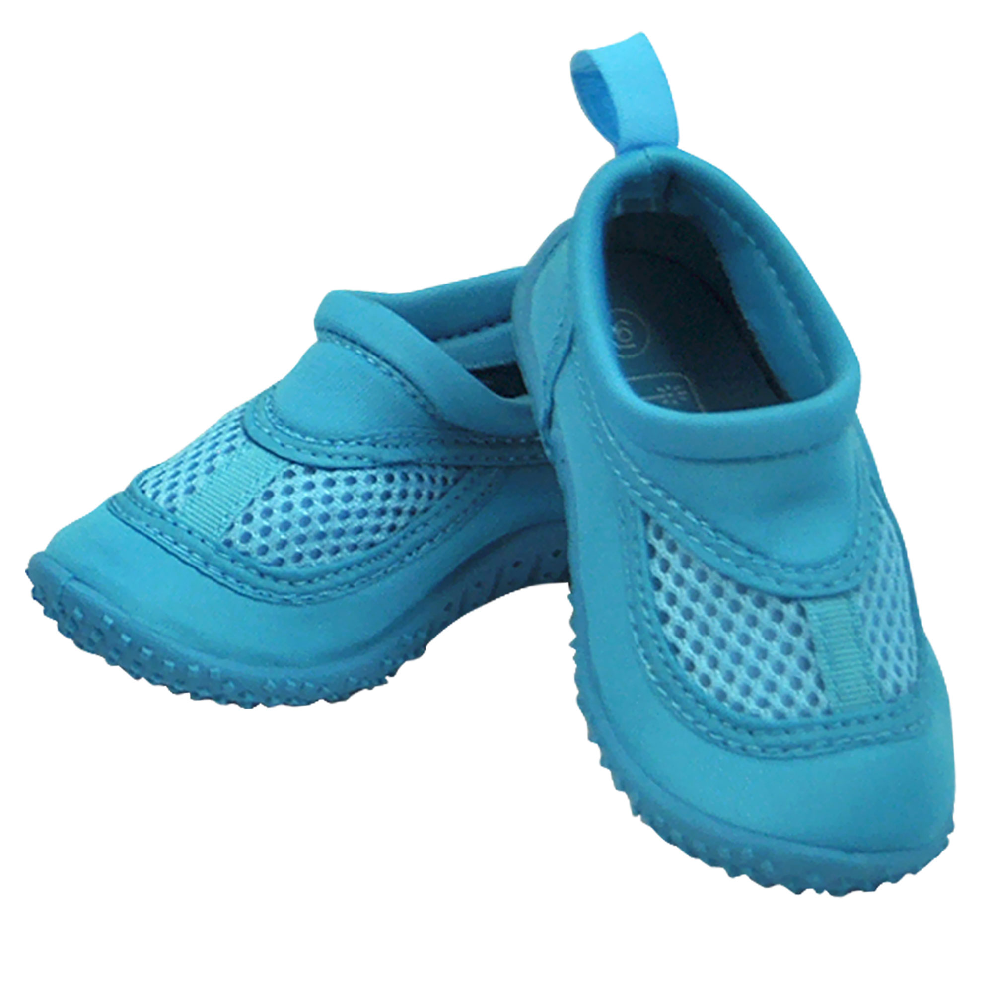 Iplay Unisex Boys or Girls Sand and Water Swim Shoes Kids Aqua Socks for Babies, Infants, Toddlers, and Children Aqua Blue Size 4 / Zapatos De Agua