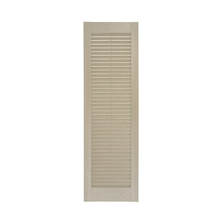 Perfect Shutters 10W in Louvered Straight Top Vinyl Shutters