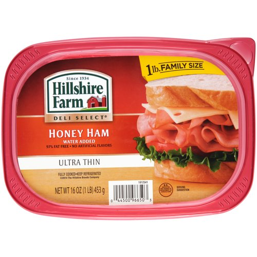 Hillshire Farm Ultra Thin Honey Ham Family Size, 16 oz