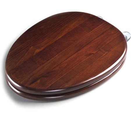 Toto Ss303 Cp Softclose Round Closed Front Toilet Seat And Lid With Chrome Plated Hinges Dark Maple