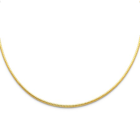 - FB Jewels 14K Yellow Gold 2mm Sparkle Omega Chain Necklace 17 Inches