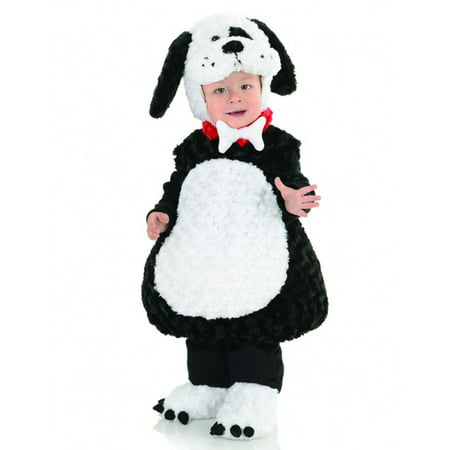 Black And White Costume (Black And White Puppy Animal Belly Babies Toddler)
