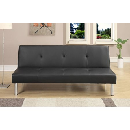 Simple Relax 1perfectchoice Living Room Furniture Plush Adjule Sofa Bed Futon Couch Black Faux Leather