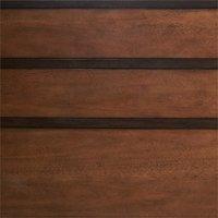 Linon Mid Century Wood Platform Queen Bed in Brown