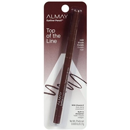 Almay Top Of The Line Eyeliner Pencil, Black Raisin [209], 0.009 oz