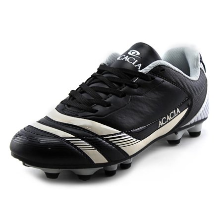 Acacia STYLE -37-875 Thunder Soccer Shoes - Black and Silver, 7.