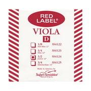 Super Sensitive Red Label Viola D String Junior