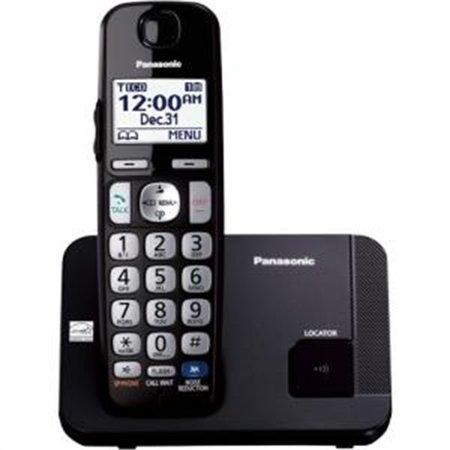 Panasonic KX-TGE210B DECT 6.0 1.90 GHz Cordless Phone Black by