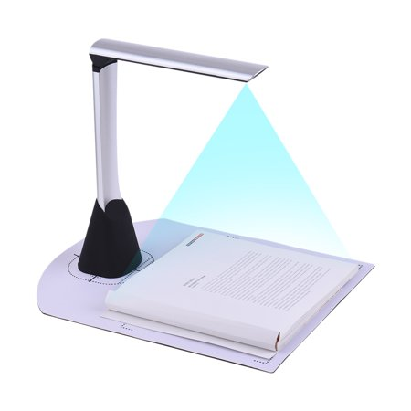 Portable High Speed USB Book Image Document Camera Scanner 5 Mega-pixel HD High-Definition Max. A4 Scanning Size with OCR Function LED Light for Classroom Office Library (Best Document Camera Classroom)