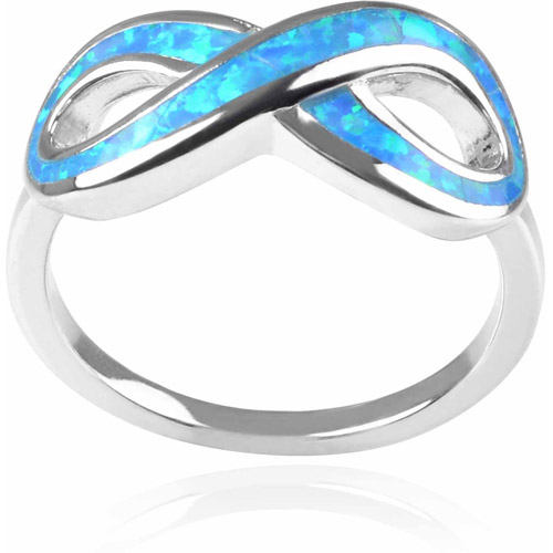 Brinley Co. Women's Faux Opal Sterling Silver Infinity Ring