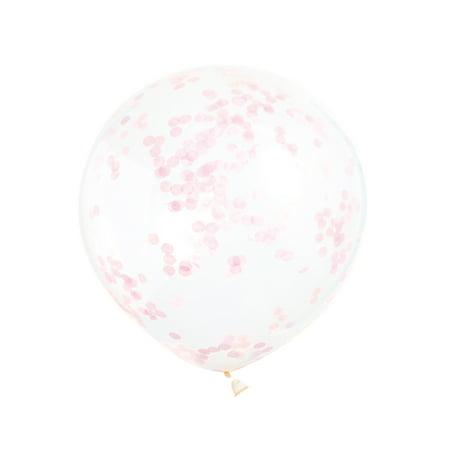 - Latex Confetti Balloons, Light Pink, 12 in, 6ct
