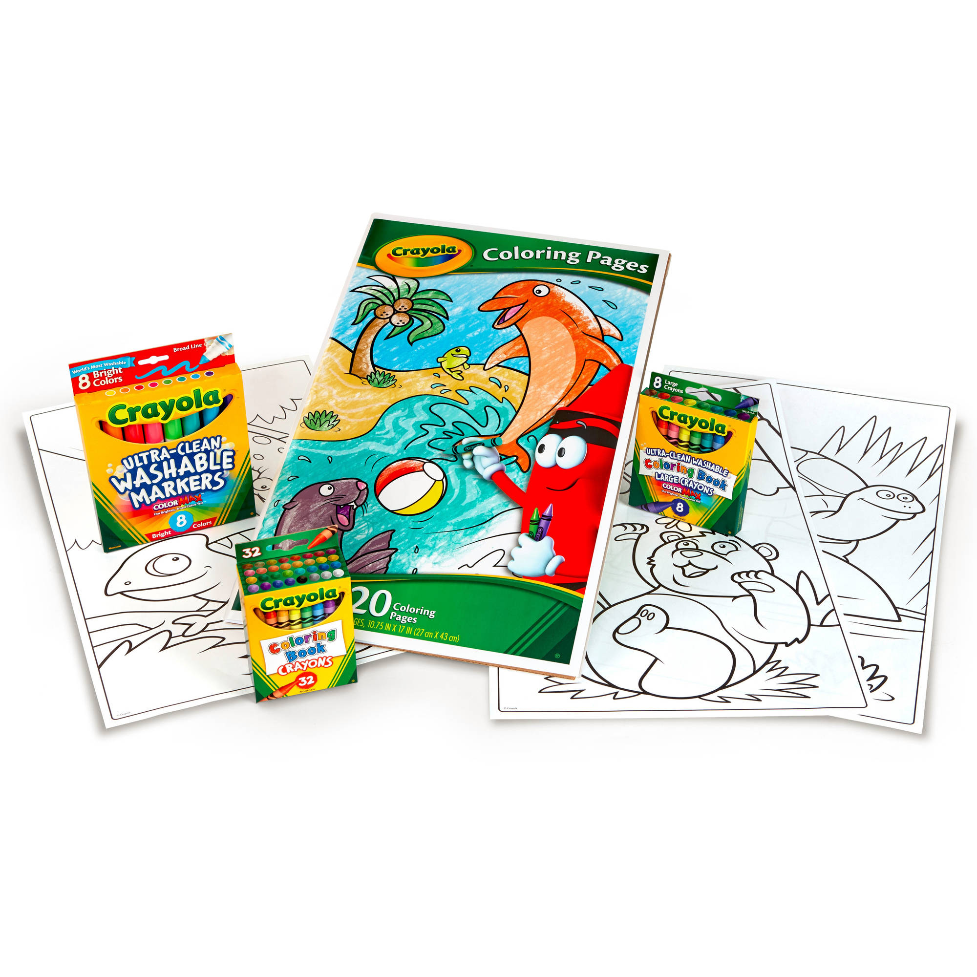 Crayola Giant Coloring Pages Art Kit - Walmart.com ...