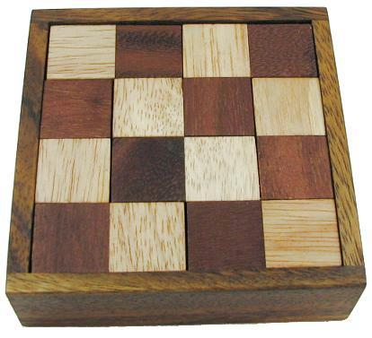 Devil's Chess Wooden Brain Teaser Puzzle by Winshare Puzzles and Games
