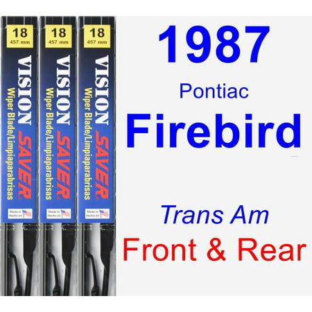 1987 Pontiac Firebird (Trans Am) Wiper Blade Set/Kit (Front & Rear) (3 Blades) - Vision Saver