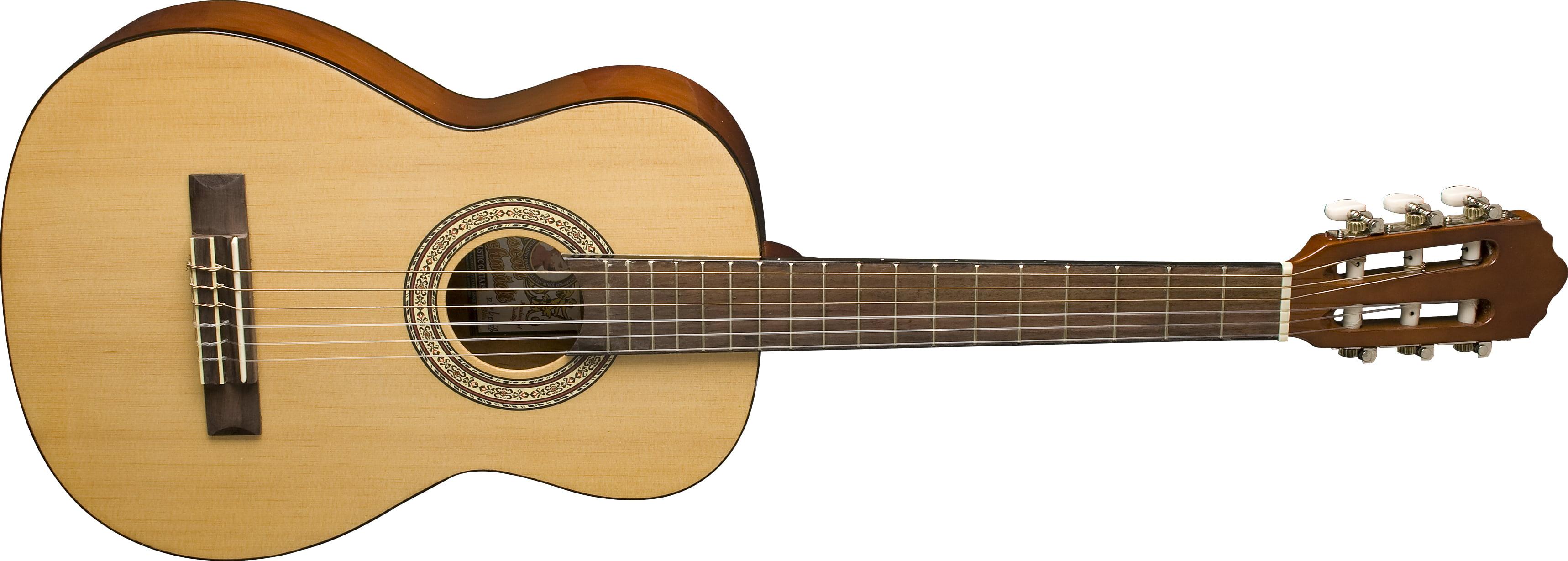 Oscar Schmidt OCHS 1 2 Size Classical Guitar. Natural (High Gloss) by KMC Music