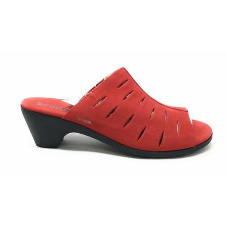 Mephisto Womens Cyrane Perf Dress Slide Sandal Strawberry Red Size 12 M US