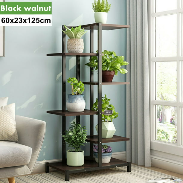 Augienb 6 Tier Metal Plant Stand Flower Pot Organizer Shelf Display Rack Holder For Indoor Outdoor Patio Garden Corner Balcony Living Room Walmart Com Walmart Com