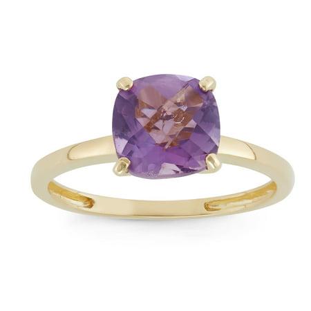10k gold cushion cut gemstone (Cushion Cut Gemstone Ring)
