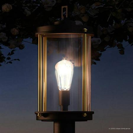 Urban Ambiance Luxury Urban Industrial Outdoor Post/Pier Light, Size: 18-3/4