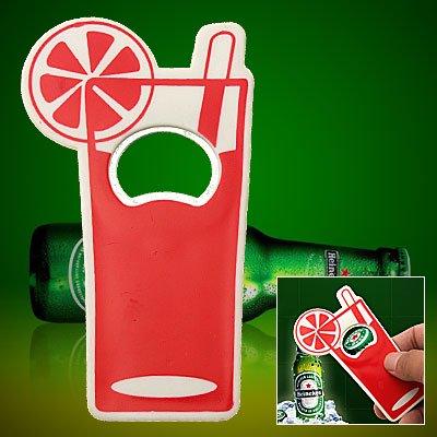 Long Handle Red Cool Beer Beverage Bottle Drink Opener - image 1 de 1