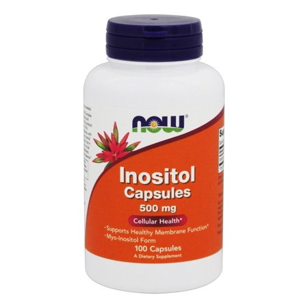 NOW Foods Inositol 500 mg, 100 Capsules-2 Pack