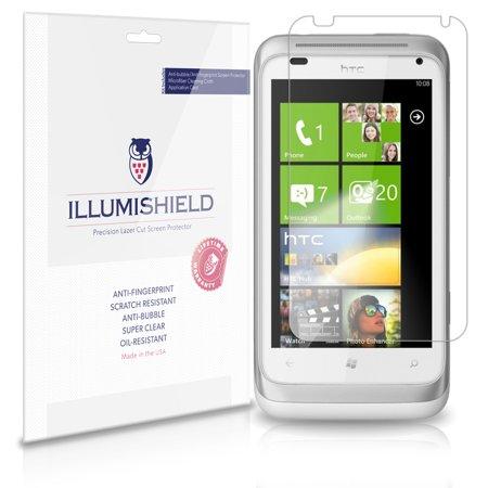 iLLumiShield Phone Screen Protector w Anti-Bubble/Print 3x for HTC Radar
