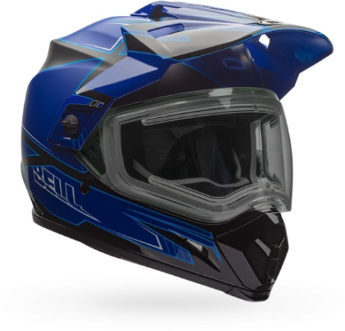 BELL 2 Colors MX-9 Adventure Off-Road Helmet, Snow Double Shield
