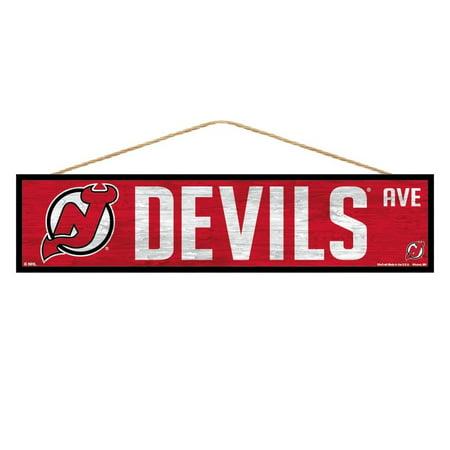 Devils Wood - New Jersey Devils Sign 4x17 Wood Avenue Design