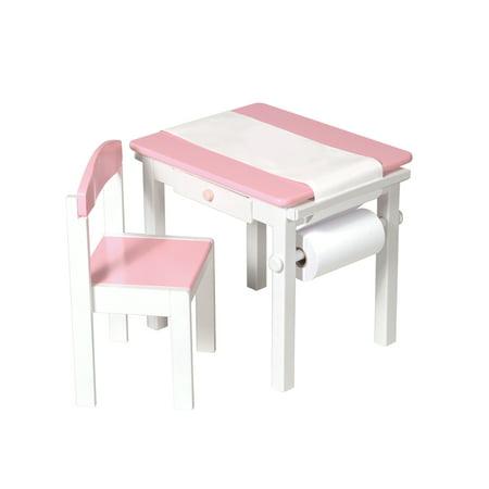 - Guidecraft Art Table & Chair Set - Pink