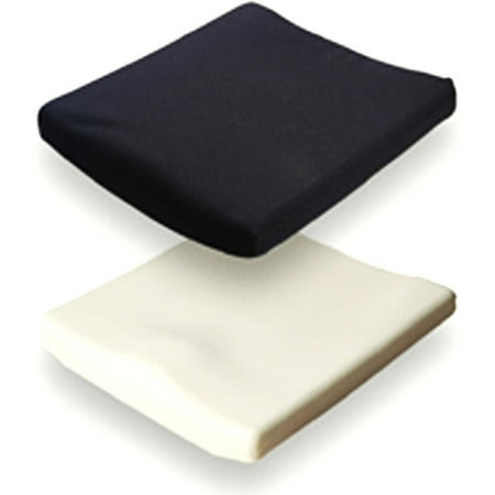 Jay Basic Wheelchair Cushion 16 X16 X2 5  Contouring Foam With Cover  1 Ea