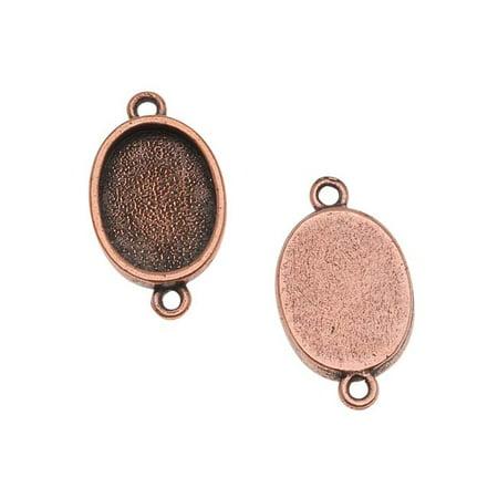 Nunn Design Antiqued Copper Plated Bezel Pendant Oval Link (Copper Oval Links)