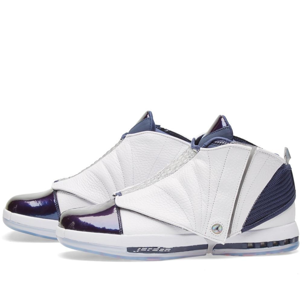 "Mens Air Jordan Retro 16 XVI ""Midnight Navy"" White"