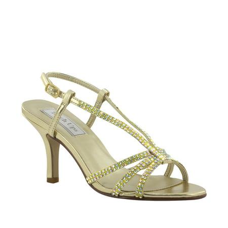 Image of Touch Ups Womens Lyric Sandal, Gold Metallic,8.5 W US