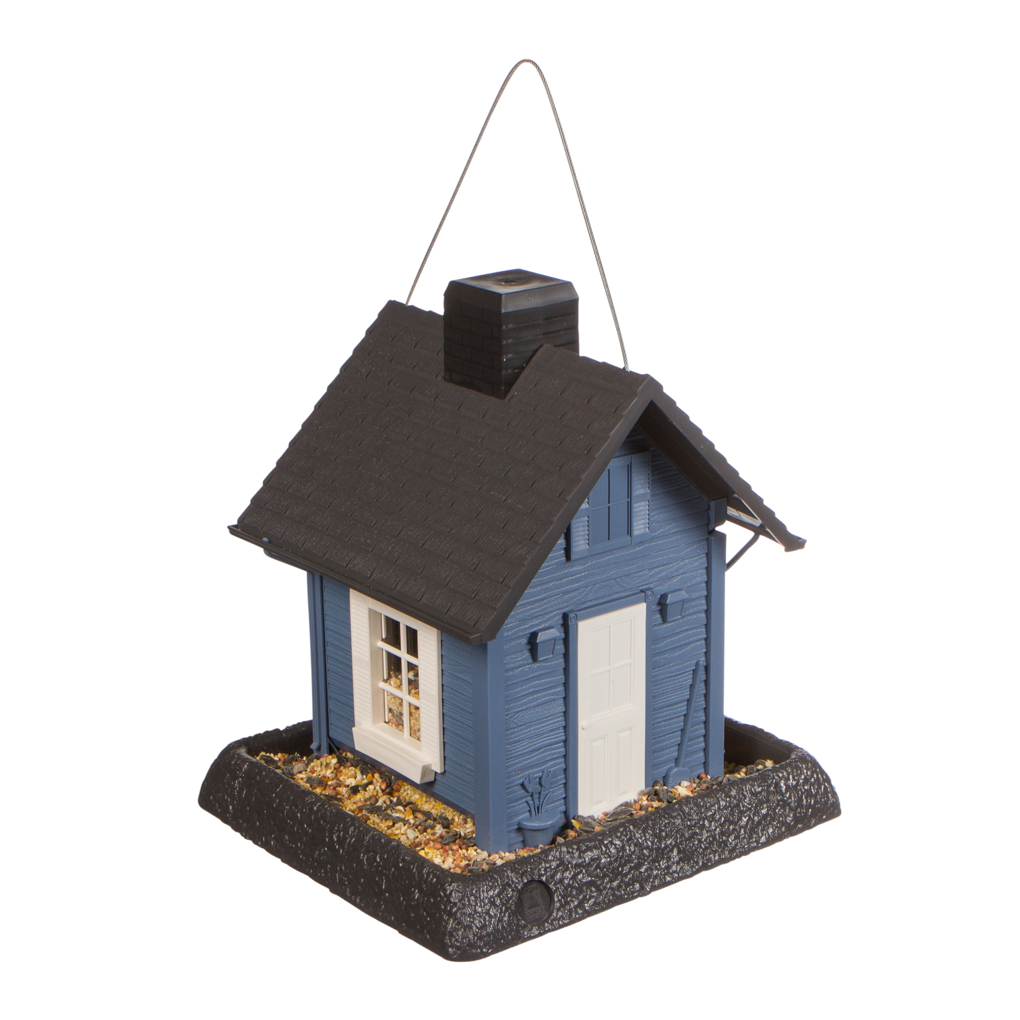 North States Blue Cottage Bird Feeder