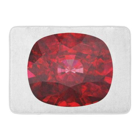 GODPOK Crystal Red Gem Ruby Citrine White Stone Garnet Rug Doormat Bath Mat 23.6x15.7 inch