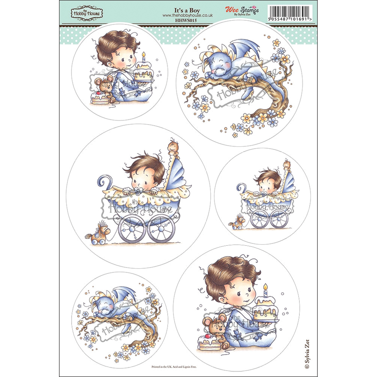 "Wee Stamps Topper Sheet 8.3""X12.2""  -It's A Boy"