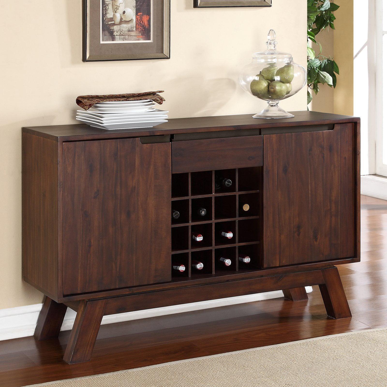 Modus Portland Solid Wood Sideboard Medium Walnut by Modus Furniture