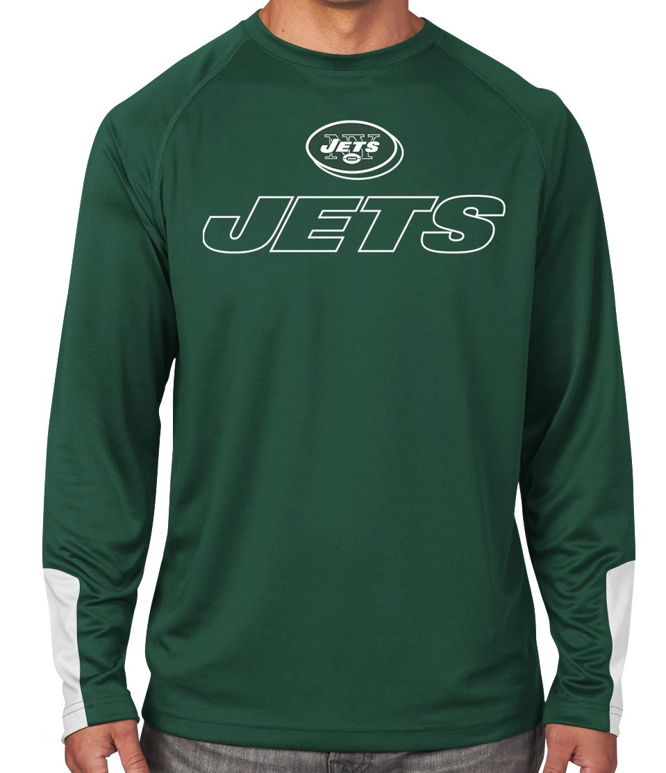 "New York Jets Majestic NFL ""Cutting"" Men's Cool Base Long Sleeve Shirt by Majestic"